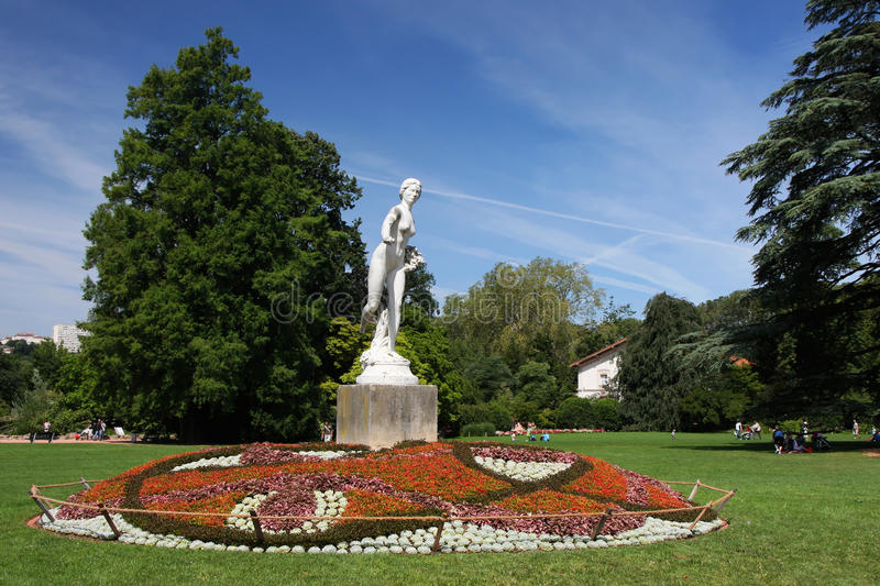 Download Statue and a garden stock photo. Image of area, europe - 25817392