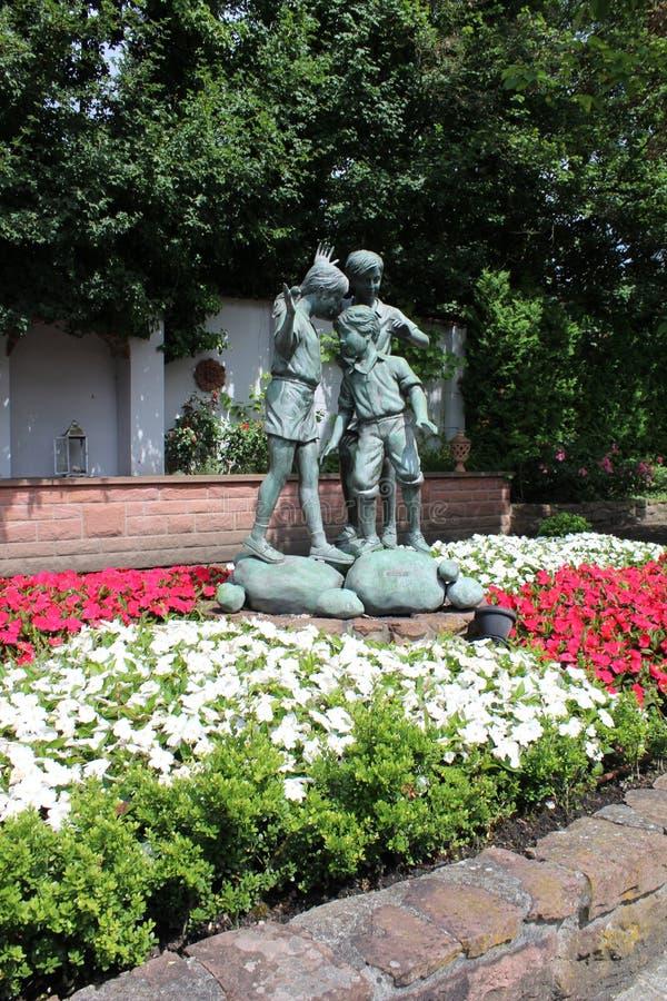 Statue, Garden, Flower, Plant royalty free stock photos