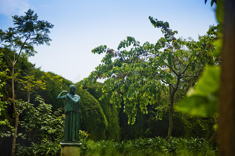 Statue In The Garden Stock Image