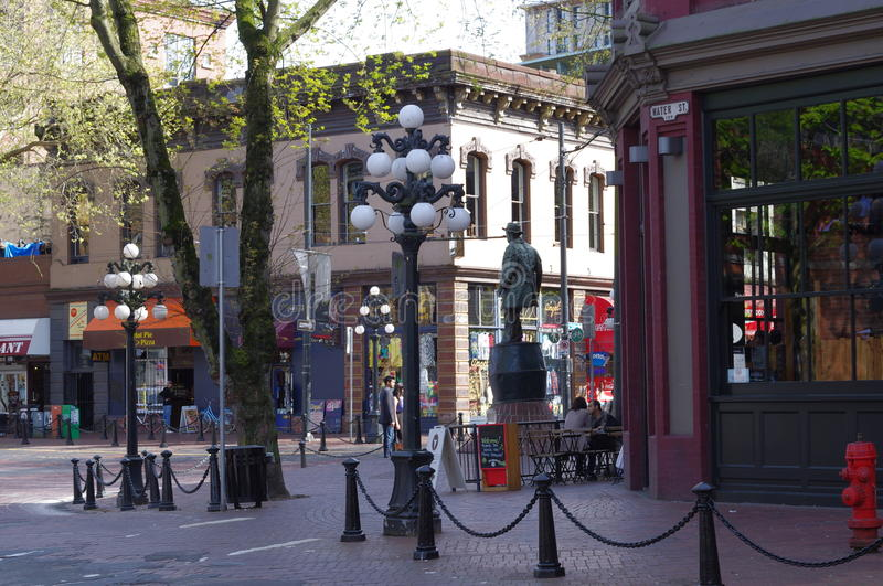 Statue of Gassy Jack in Gastown Vancouver royalty free stock photo