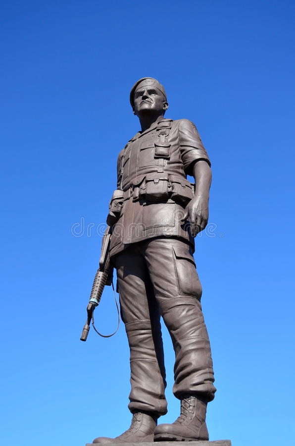 Statue General Henry Hugh Shelton US Army. Statue of General Henry Hugh Shelton a retired American career military officer of the United States Army from 1963 stock photography
