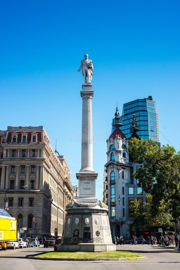 Statue Generals Lavalle in Buenos Aires, Argentinien stockfotos