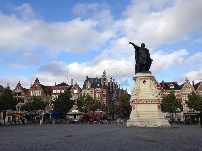 Statue in Gent royalty free stock photo