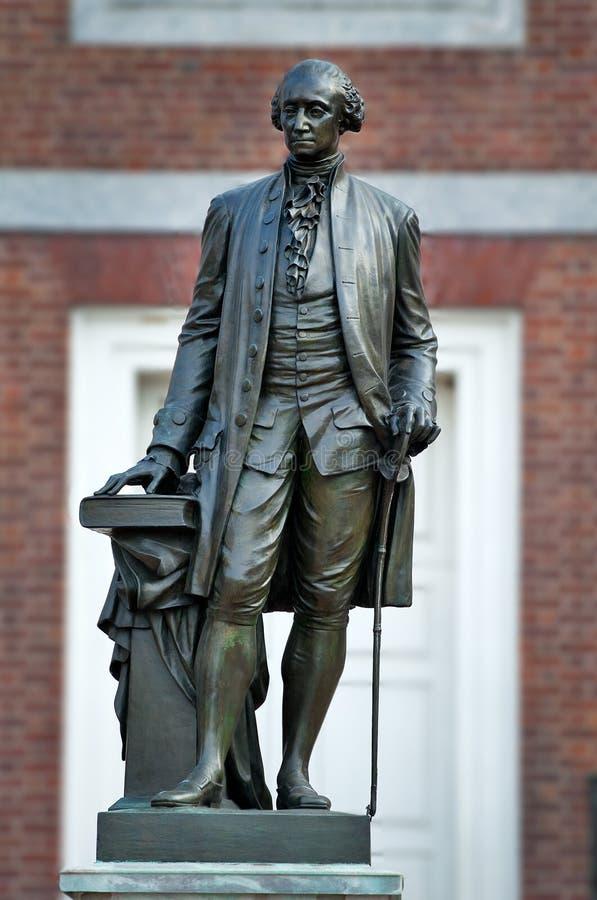 Statue of George Washington. Independence Hall, Philadelphia, PA royalty free stock photos