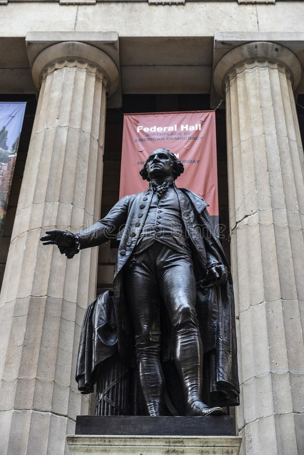 Statue of George Washington in New York City, USA stock photo