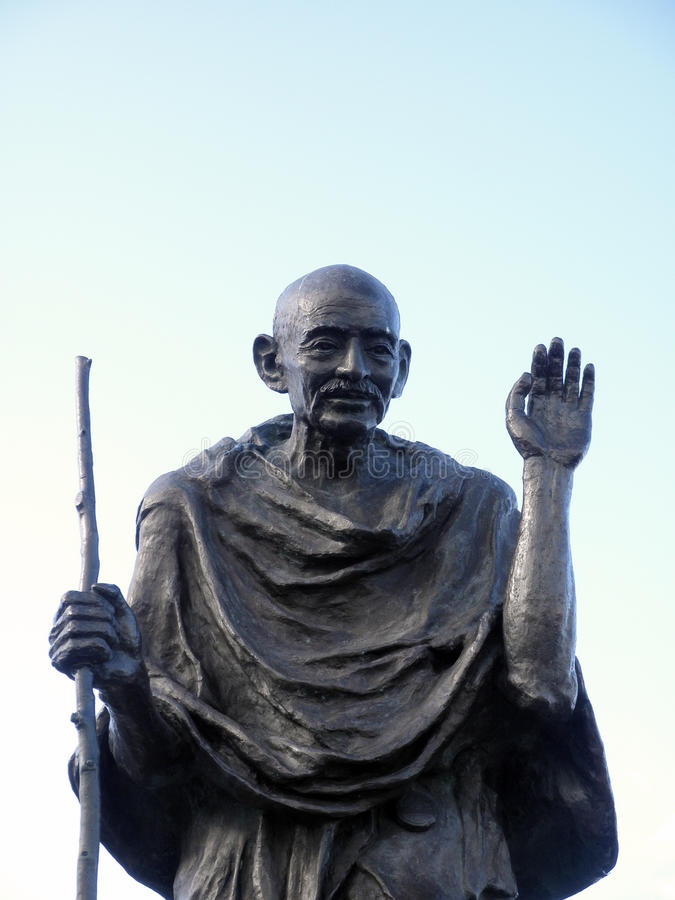 Statue of Ghandi. Statue of Mahatma Ghandi My life is My Message Who lived October 2, 1869 - January 30, 1948, at the Ferry Building, San Francisco, California stock photography
