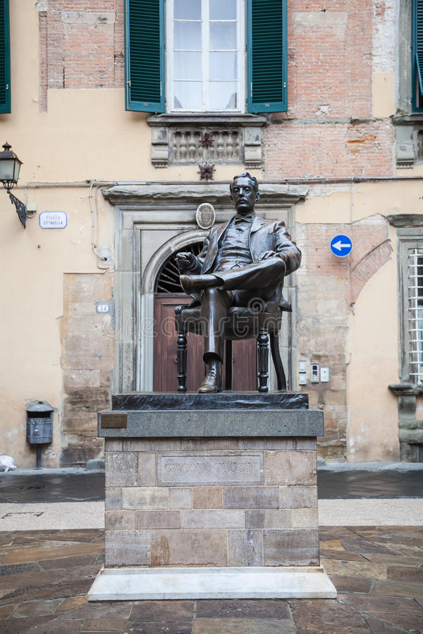 Statue of Giacomo Puccini royalty free stock photography