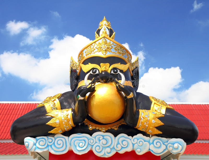 Statue of giant in traditional Thailand. Statue of giant in traditional Thai style molding art stock photos