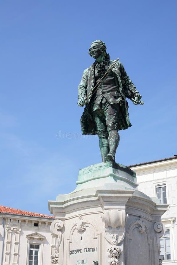 Download Statue of Giuseppe Tartini stock image. Image of blue - 19354293
