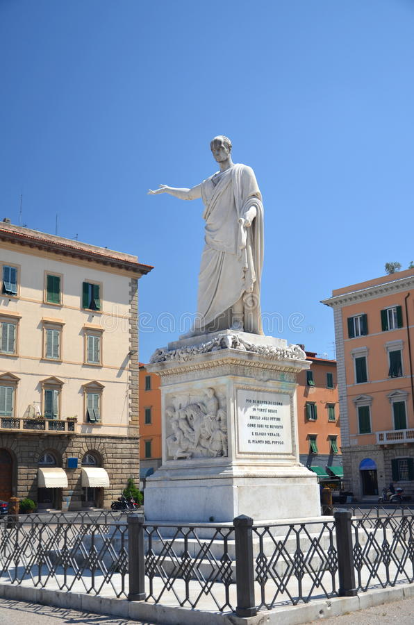 Download The Statue Of Grand Duke Ferdinand III On Piazza Della Republica In Livorno, Italy Stock Photo - Image: 33778540