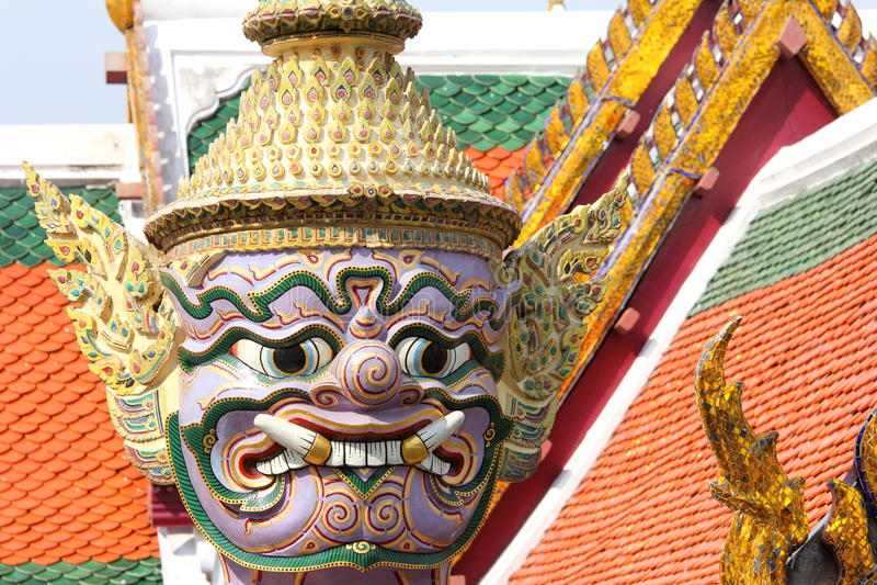 Download Statue At The Grand Palace, Bangkok (Close-Up Details) Stock Photo - Image of holy, kingdom: 50362220