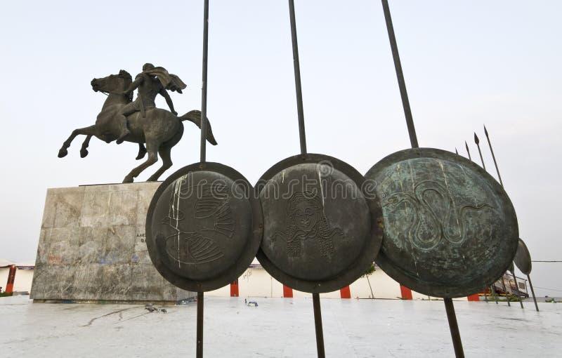 statue grande d'Alexandre Grèce image stock