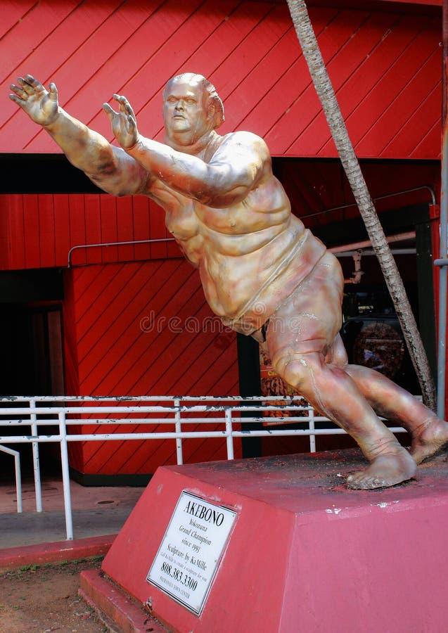 Statue grande de champion d'Akebono - de Yokozuna image stock
