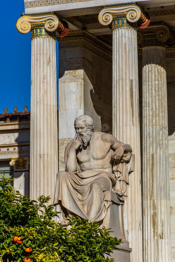 Statue of the Greek philosopher Socrates stock photography