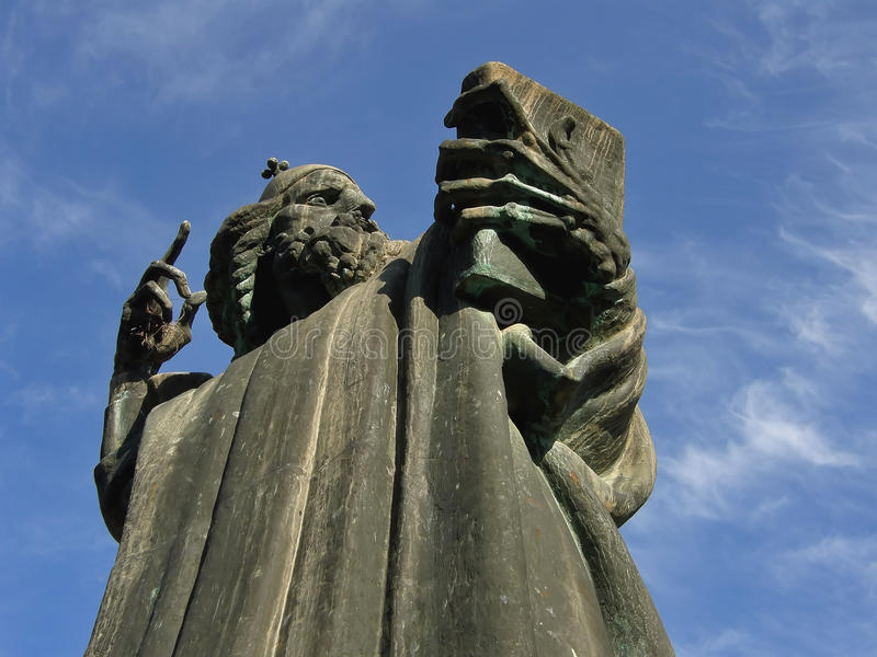 Statue of Gregory of Nin in Split 1 royalty free stock photos