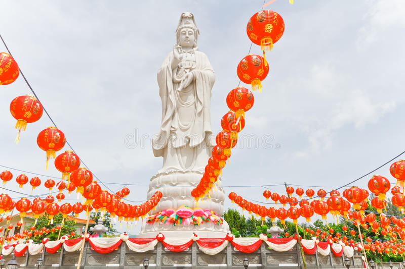 Statue of Guan in ( Public place ) royalty free stock photo