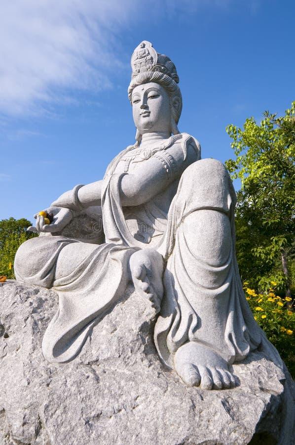 Statue of Guanyin buddha stock photos
