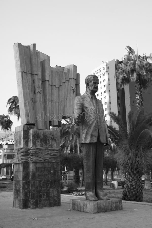Statue Of Hafez Al-Asad In Damascus, Syria Royalty Free Stock Photos