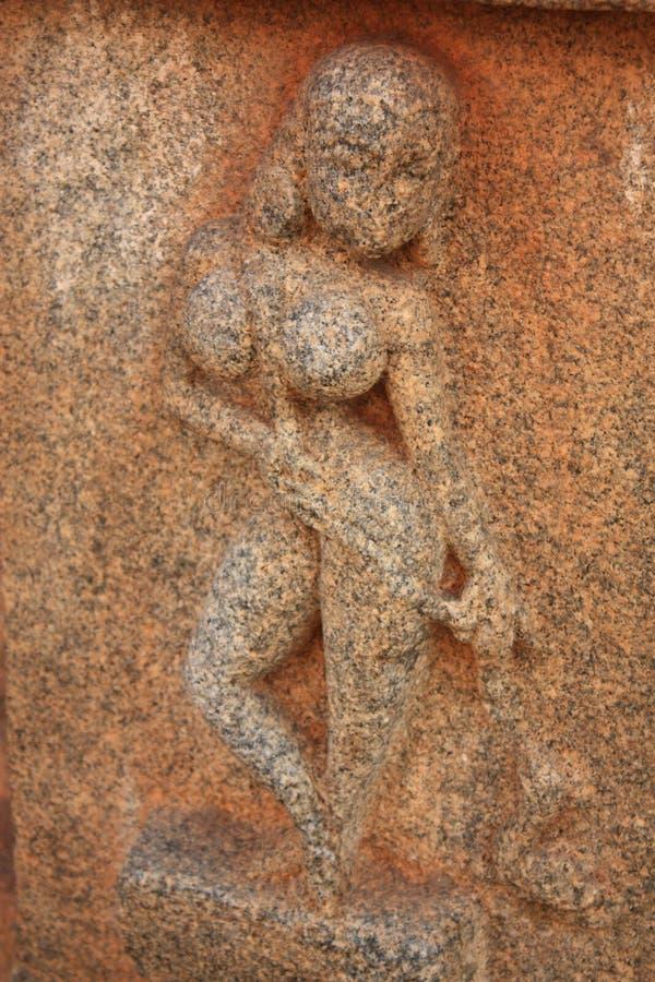 Statue in Hampi, Karnataka state, India.