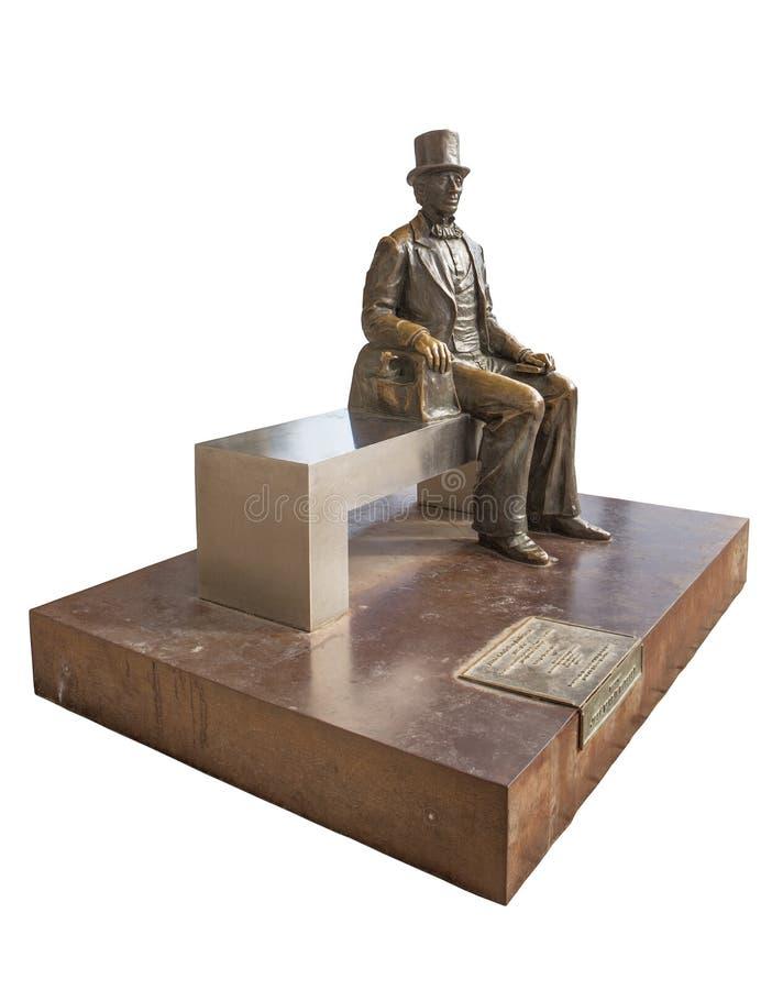 Statue of Hans Christian Andersen stock image