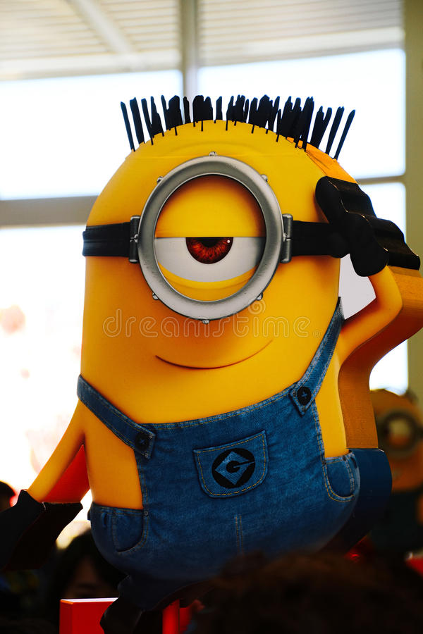 Statue of `HAPPY MINION` stock images