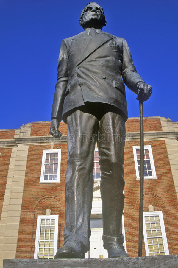 Statue of Harry S. Truman in front of the Jackson County Courthouse, Independence, MO stock photo