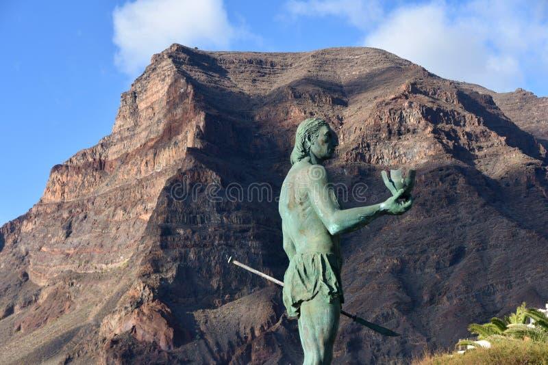 The statue of Hautacuperche, La Gomera stock photo