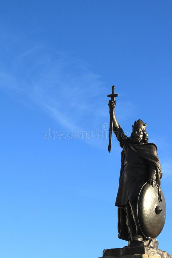 Statue of historic English figure royalty free stock images