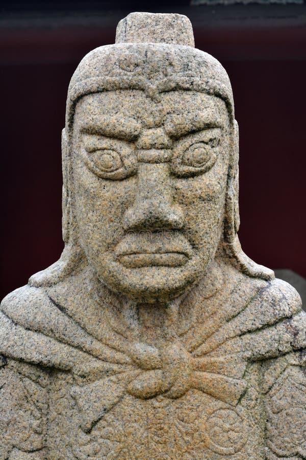 Statue Historique De Général En Chine Antique Photographie stock libre de droits
