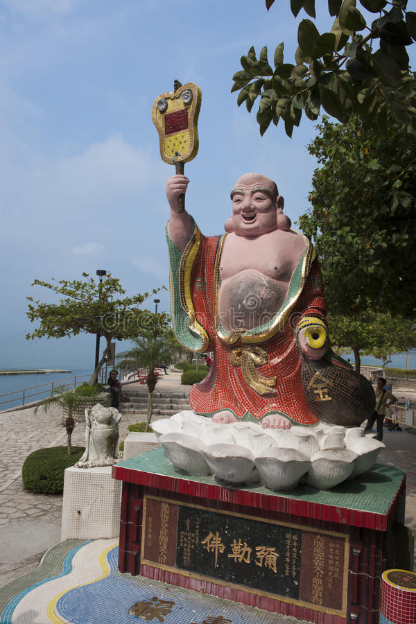 Statue in Hong Kong. Statue in Tin Hau Temple in Repulse Bay Hong Kong royalty free stock images