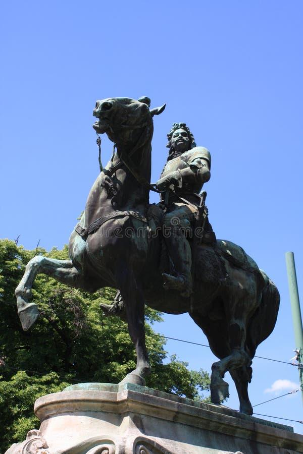 Statue II de Rakoczi Ferenc dans Szeged, Hongrie, région de Csongrad photos libres de droits