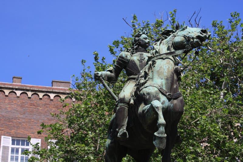 Statue II de Rakoczi Ferenc dans Szeged, Hongrie, région de Csongrad photo stock