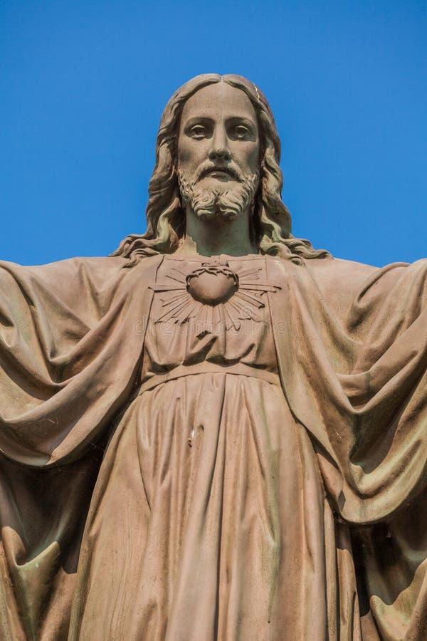 Statue im Freien von Jesus stockfotografie