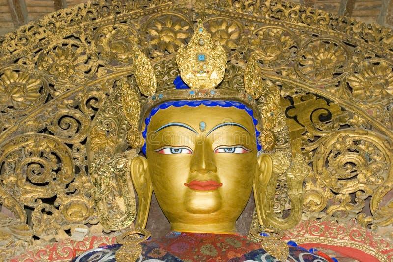 Statue im Palkhor Kloster stockbilder