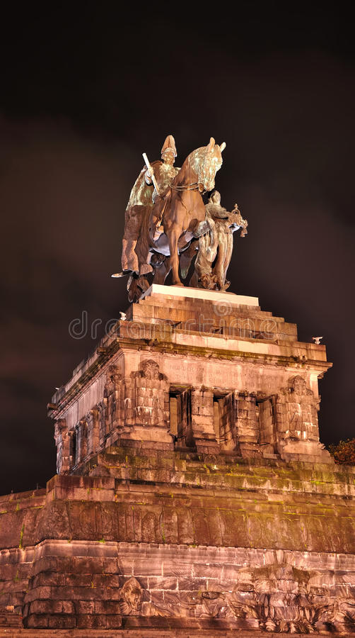 Statue of imperator Wilhelm royalty free stock image
