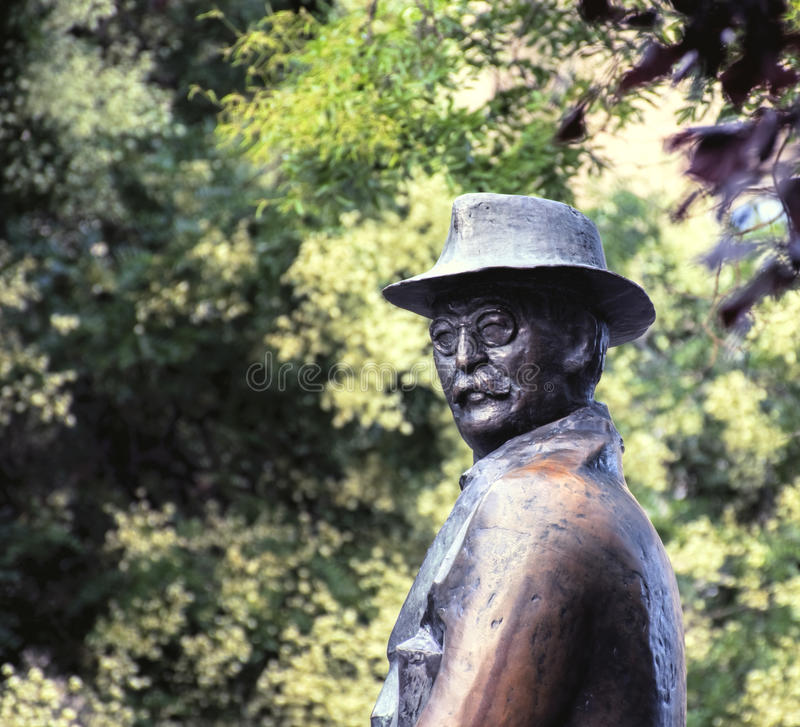 STATUE OF IMRE NAGY. In Budapest royalty free stock image