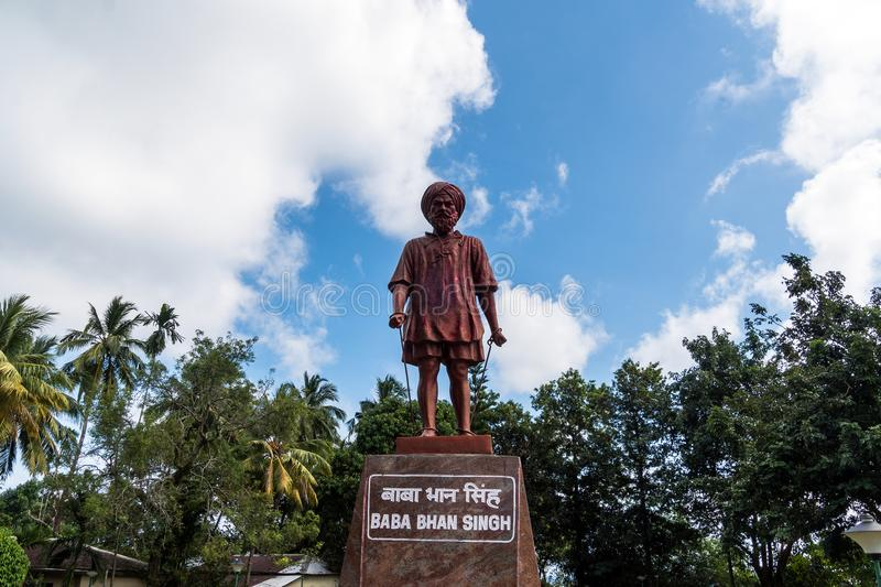Statue of the Indian political leader stock photos