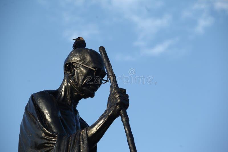 Statue indienne de Mahatma Gandhi du Chef d'histoire images stock