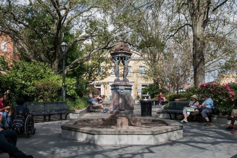 Statue intéressante en parc de Latrobe photos libres de droits