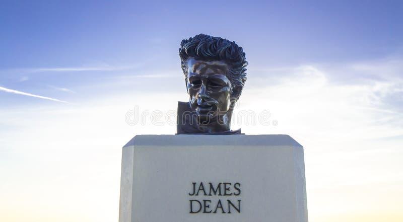 Statue, James Dean photographie stock