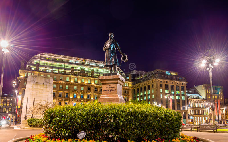 Statue of James Oswald on George Square in Glasgow. Scotland royalty free stock image