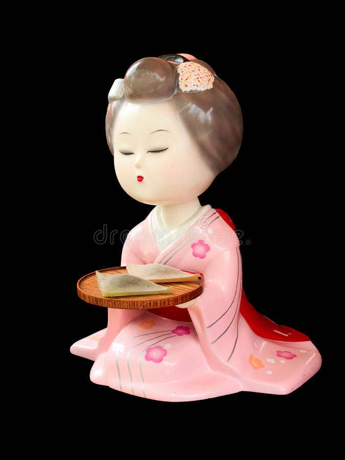 Statue japonaise de geisha photo stock