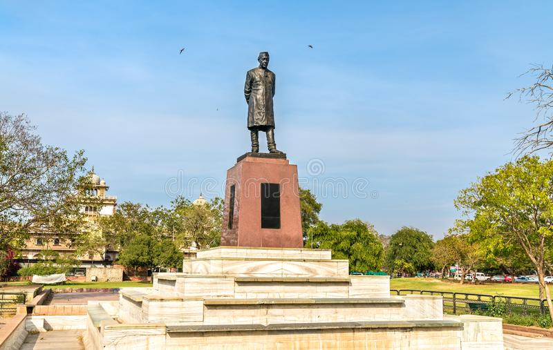 Statue of Jawaharlal Nehru, the first Prime Minister of India, in Jaipur. Statue of Jawaharlal Nehru, the first Prime Minister of India, in Nehru Garden of stock images