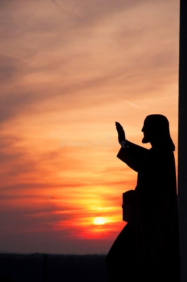 Statue of Jesus royalty free stock photos