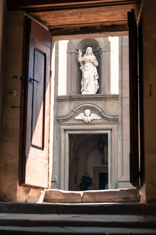 Statue of Jesus at Camaldoli Italy. Christian symbol. royalty free stock photo