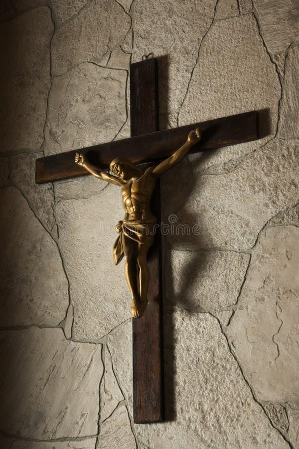 Statue of Jesus Christ crucifixion stock photo