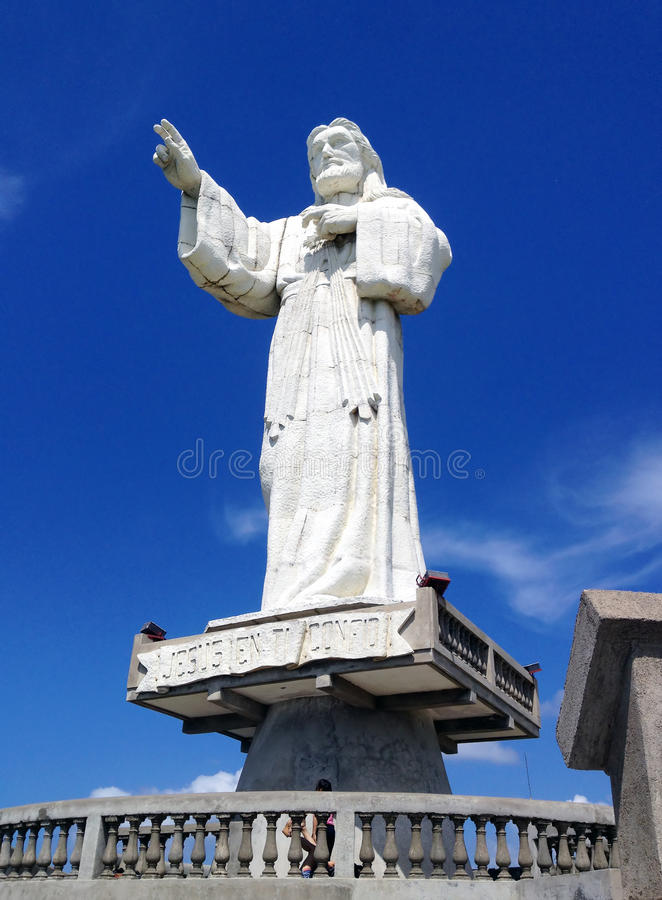 Statue of Jesus Christ in Nicaragua royalty free stock photos