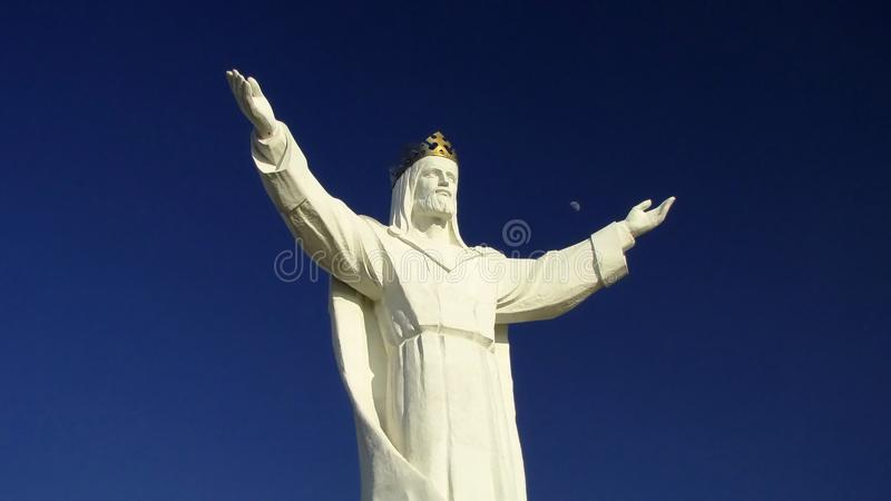Statue of Jesus Christ in Poland. stock photography