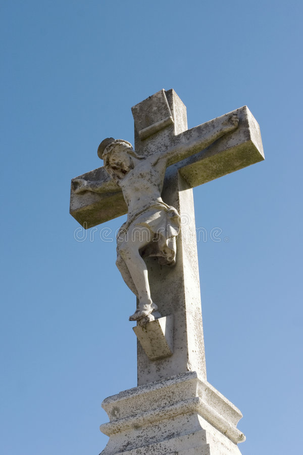Statue of Jesus on the Cross royalty free stock photography
