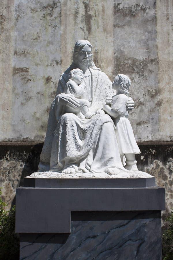 Statue of Jesus stock photo